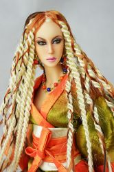 OOAK Gwendolyn Savage Warrior Queen wig