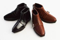 Basic footwear pack of 2 (Black and leather brown)